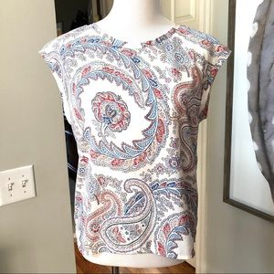 Abercrombie & Fitch Shirt Sleeveless Paisley Top.